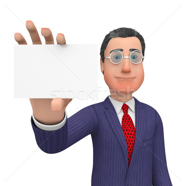 Business Card Shows Blank Space And Biz Stock photo © stuartmiles