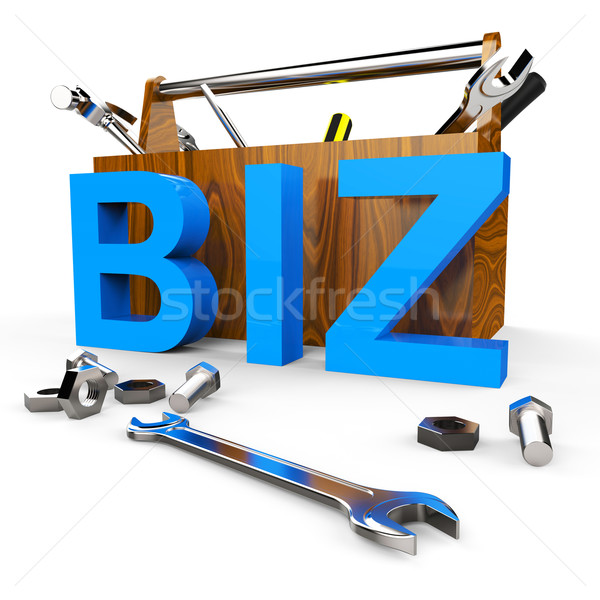 Business Word Means Buying Exporting And E-Commerce Stock photo © stuartmiles