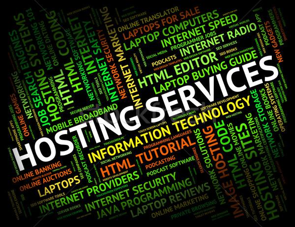 Hosting diensten helpen bureau hulp betekenis Stockfoto © stuartmiles