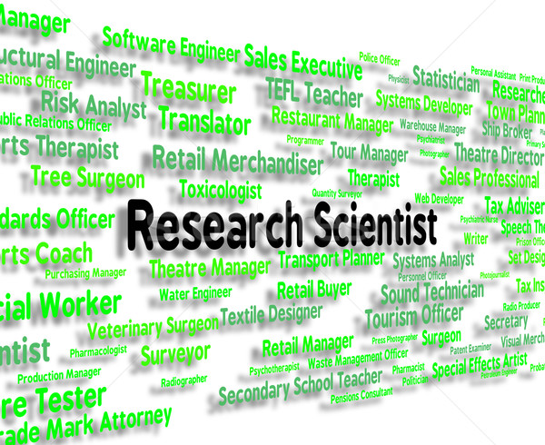 Research Scientist Indicates Gathering Data And Analysis Stock photo © stuartmiles