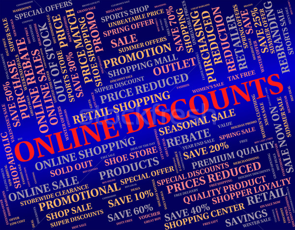Online Discounts Shows World Wide Web And Www Stock photo © stuartmiles