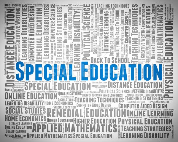 Especial educação devagar aprendizagem faculdade escolas Foto stock © stuartmiles