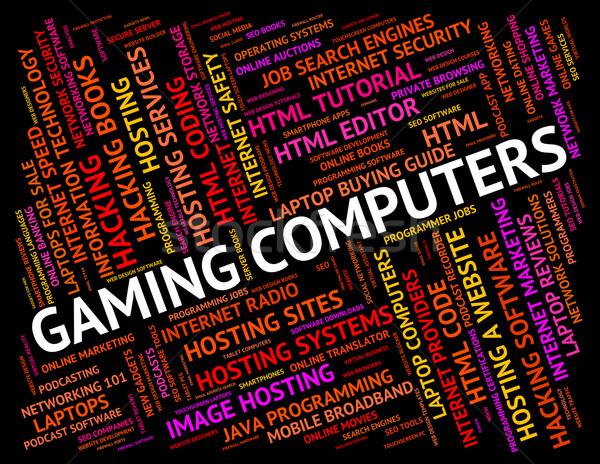 Számítógépes játékok számítógépek játék idő processzor számítástechnika Stock fotó © stuartmiles