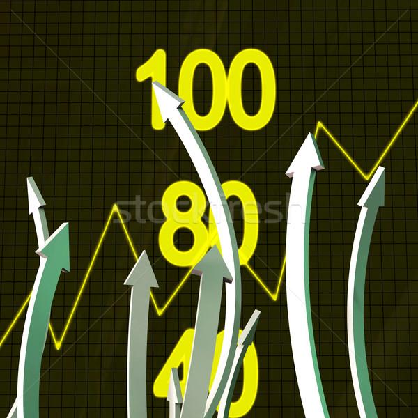 Progress Arrows Represents Business Graph And Advance Stock photo © stuartmiles