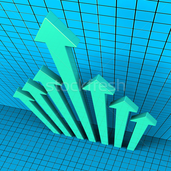 Progress Arrows Shows Financial Report And Analysis Stock photo © stuartmiles