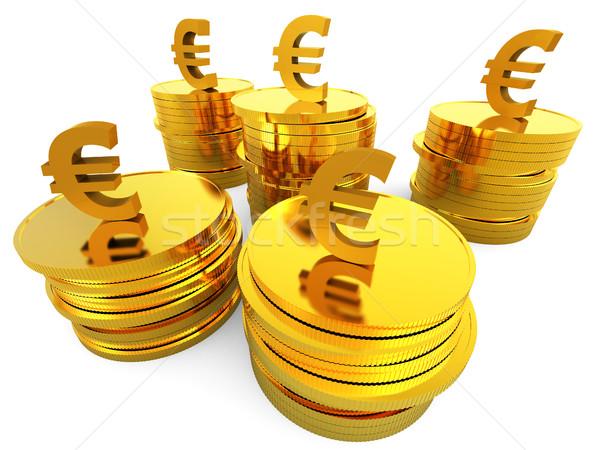 Euro Cash Indicates Invest Growth And European Stock photo © stuartmiles