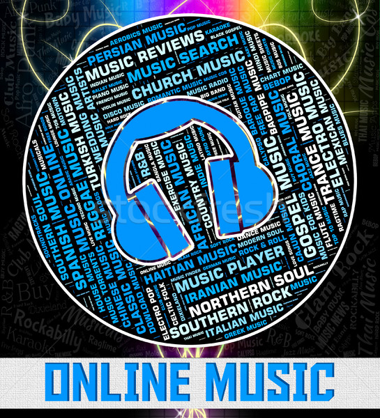 Online Music Represents World Wide Web And Acoustic Stock photo © stuartmiles