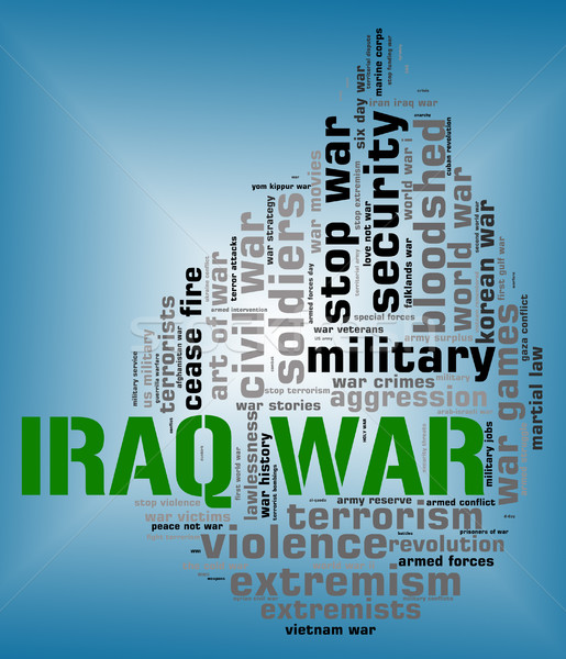 Iraq War Indicates Military Action And Republic Stock photo © stuartmiles
