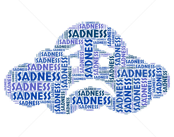 Sadness Word Means Broken Hearted And Dejected Stock photo © stuartmiles