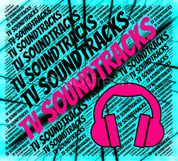 Tv Soundtracks Shows Small Screen And Harmonies Stock photo © stuartmiles