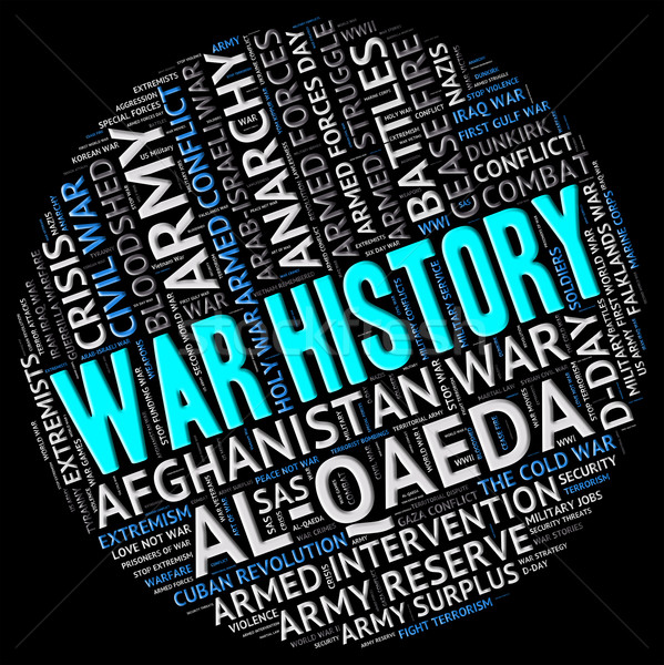 War History Shows Military Action And Battles Stock photo © stuartmiles