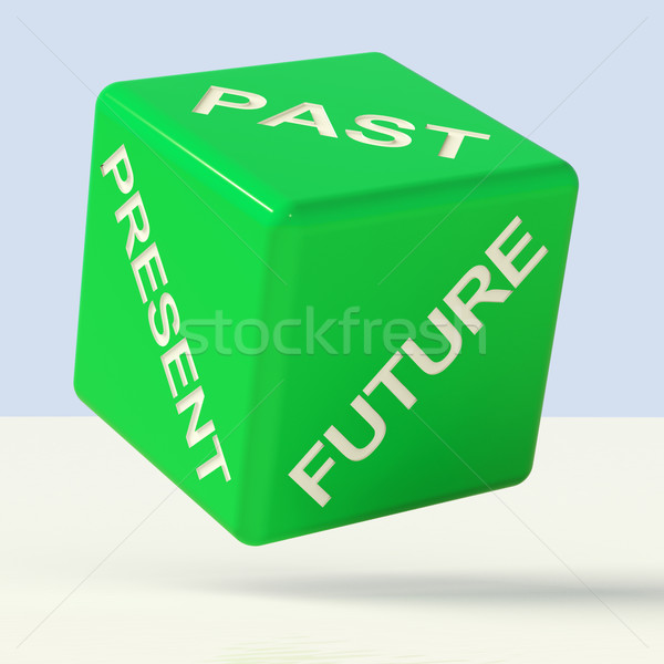 Past Present Future Dice Showing Evolution And Aging Stock photo © stuartmiles