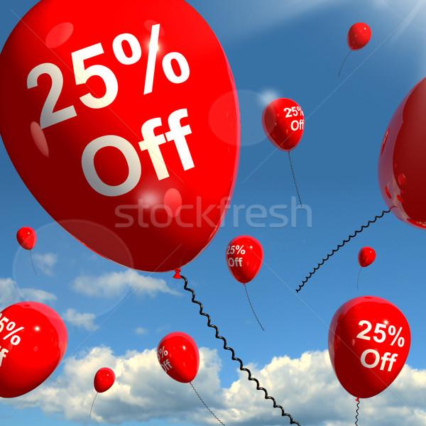 Balon 25 satış indirim Stok fotoğraf © stuartmiles