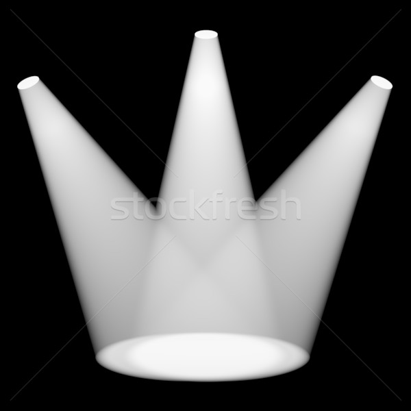 White Spotlights Shining On Stage For Highlighting Products Stock photo © stuartmiles