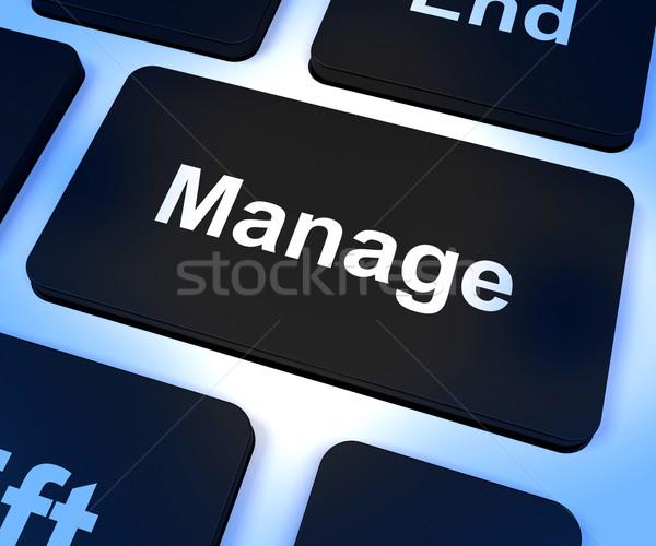 Kulcs mutat irányítás vezetőség felügyelet Stock fotó © stuartmiles