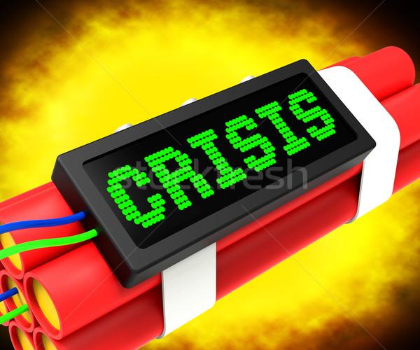 Crise un message dynamite urgence problèmes Photo stock © stuartmiles