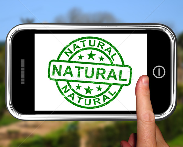 Natural On Smartphone Showing Untreated Products Stock photo © stuartmiles