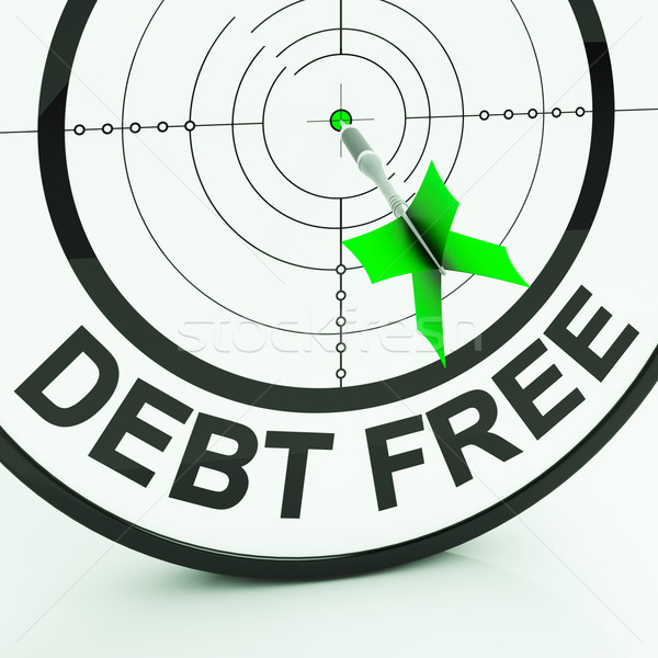 Debt Free Shows Wealth With Zero Loans Stock photo © stuartmiles