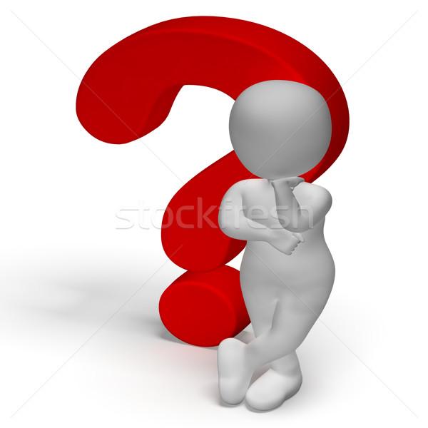 Points d'interrogation homme confusion question Photo stock © stuartmiles
