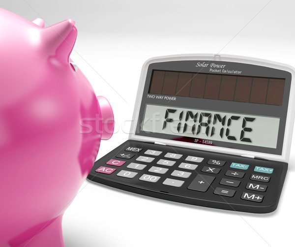 Finance Calculator Shows Revenue Income And Success Stock photo © stuartmiles