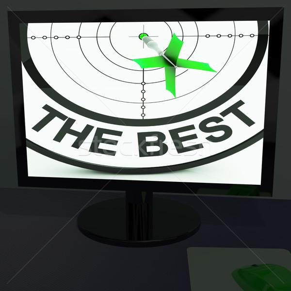 Stockfoto: Best · monitor · tonen · kwaliteit · verbetering