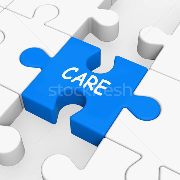 Care Puzzle Means Concerned Careful Or Caring Stock photo © stuartmiles