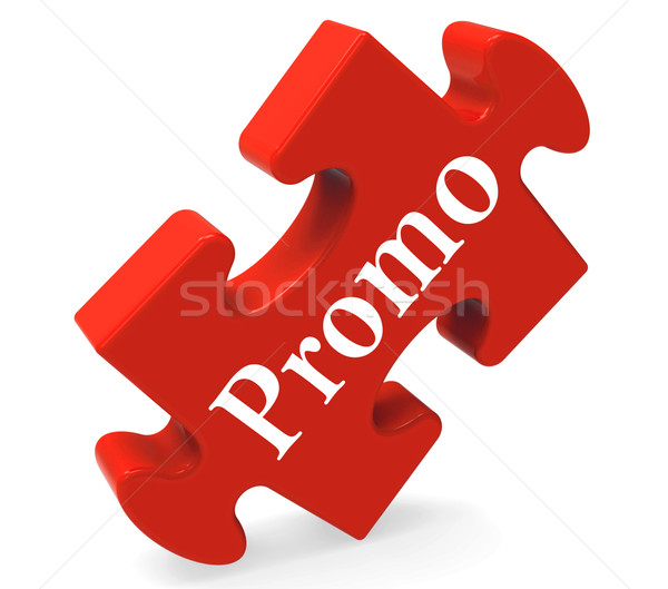 Promo Puzzle Shows Promotion Promos Discounts And Reductions Stock photo © stuartmiles