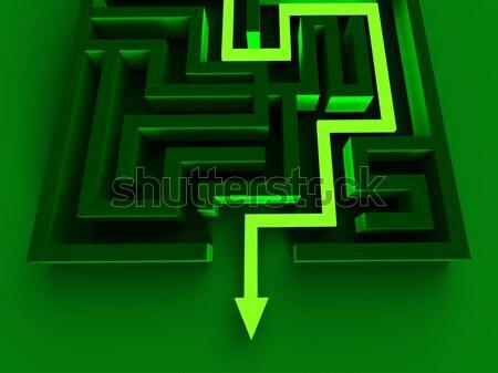 終了する 迷路 パズル 方法 外に ストックフォト © stuartmiles