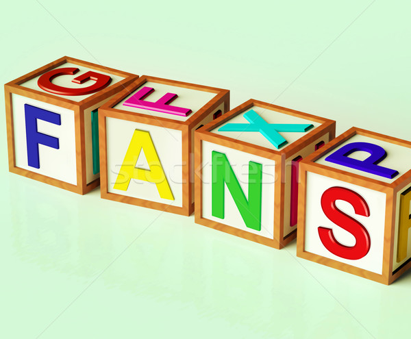 Fans Blocks Mean Followers Supporters And Admirers Stock photo © stuartmiles