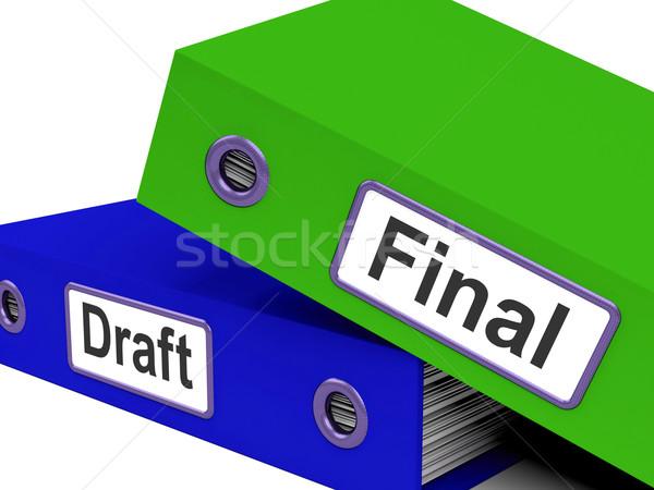 Final carpetas documento significado carta plan Foto stock © stuartmiles