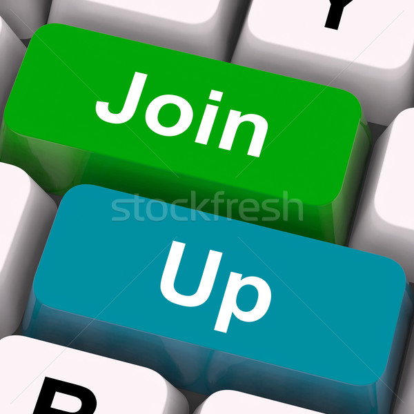 Join Up Keys Show Becoming A Member Or Registering Stock photo © stuartmiles