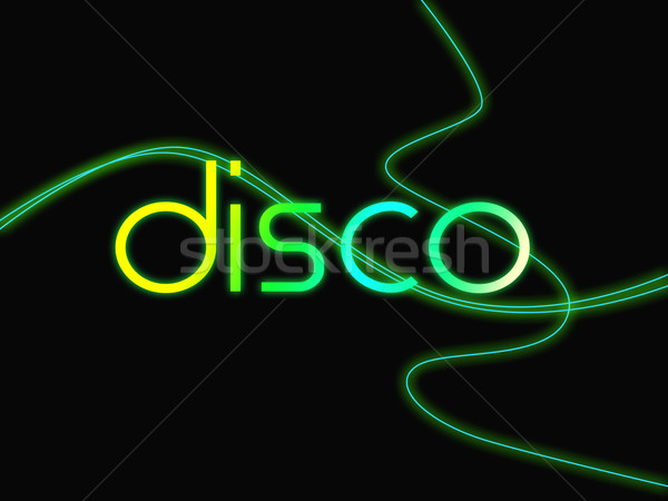 Groovy Disco Means Dancing Party And Music Stock photo © stuartmiles