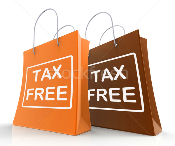 Tax Free Bag Represents Duty Exempt Discounts Stock photo © stuartmiles