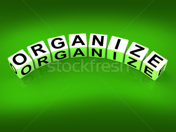 Organize Blocks Represent Organization Management and Establishe Stock photo © stuartmiles