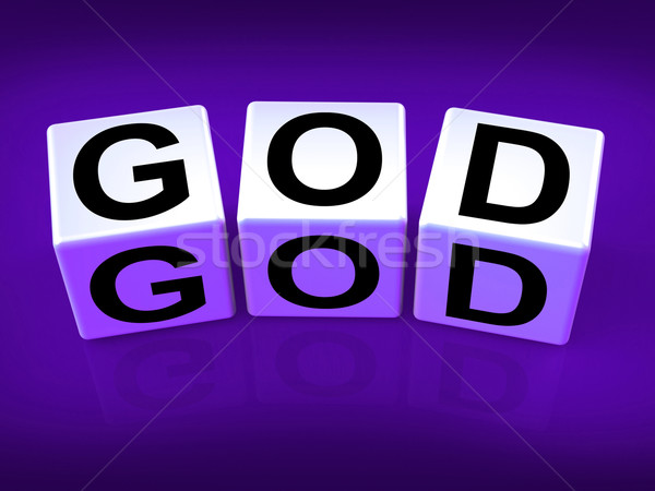 God Blocks Represent Deities Gods or Holiness Stock photo © stuartmiles
