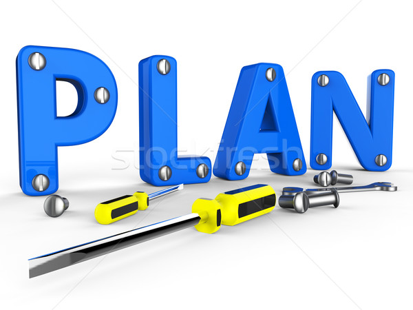Make A Plan Represents Suggestion Programme And Proposition Stock photo © stuartmiles