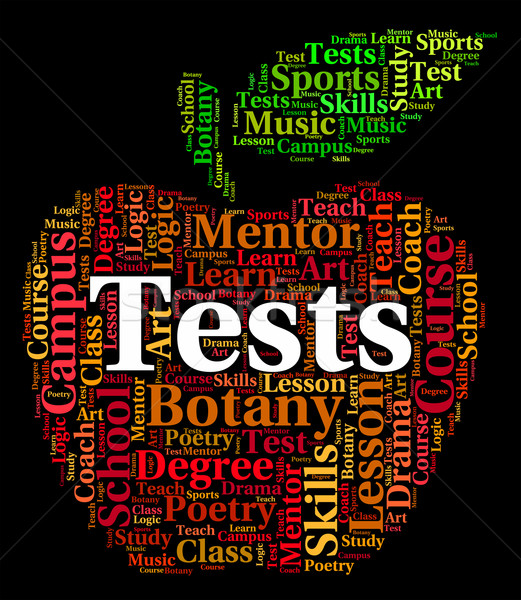 Tests Word Shows Assessment Tested And Testing Stock photo © stuartmiles