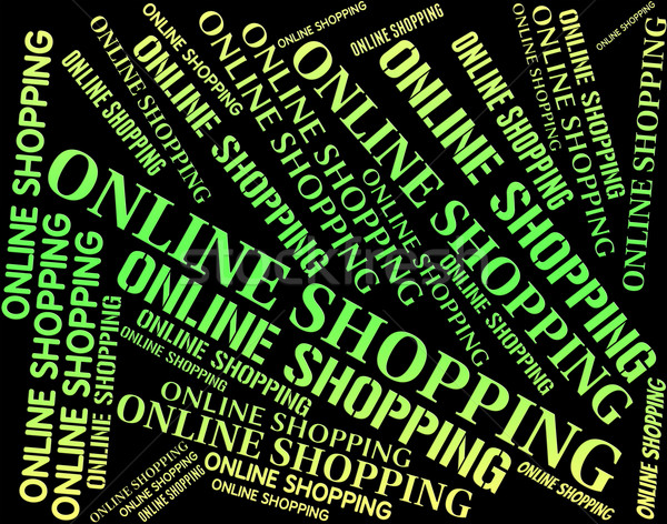 Shopping online world wide web commerce shop store Foto d'archivio © stuartmiles