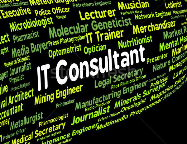 Информационные технологии консультант занятость текста направлять цифровой Сток-фото © stuartmiles