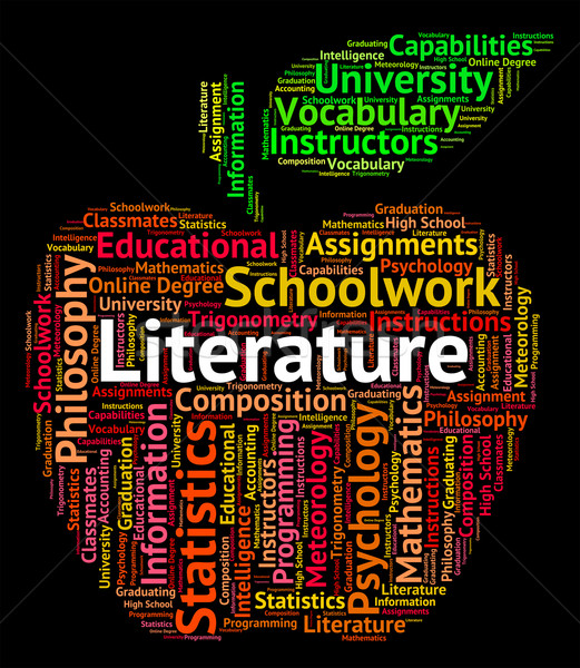 Literature Word Shows Written Works And Text Stock photo © stuartmiles