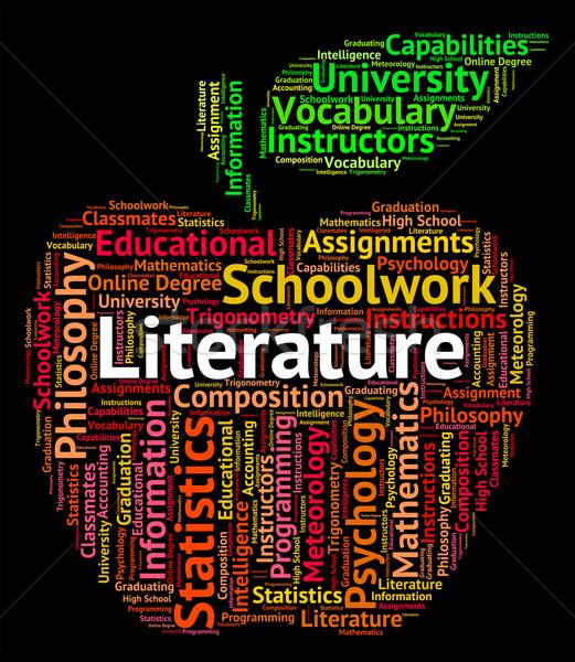 Edebiyat kelime yazılı metin Stok fotoğraf © stuartmiles