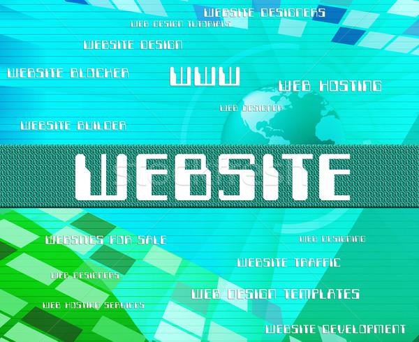 сайт слово домен онлайн текста Сток-фото © stuartmiles