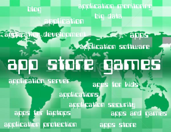 App store giochi retail vendite applicazioni Foto d'archivio © stuartmiles
