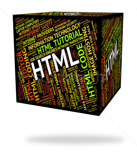 Html Word Means Hypertext Markup Language And Code Stock photo © stuartmiles