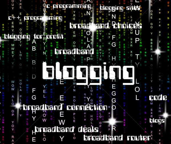 Blogging mot ligne web Photo stock © stuartmiles