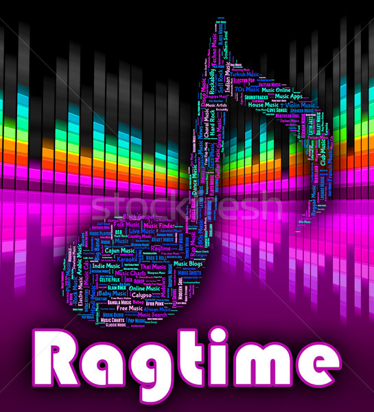 Ragtime Music Means Sound Tracks And Audio Stock photo © stuartmiles