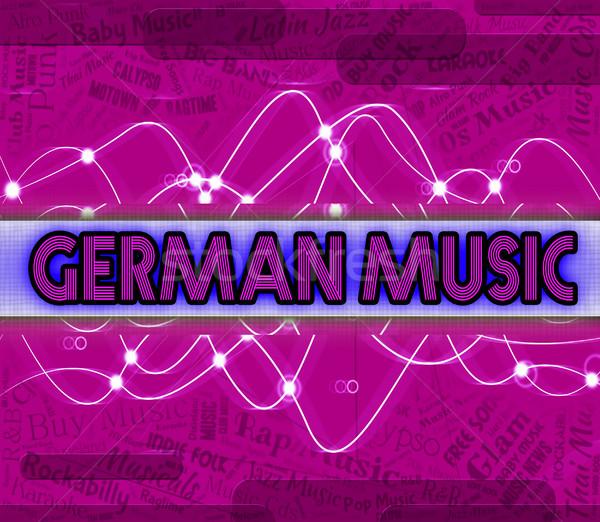 German Music Indicates Sound Tracks And Deutsche Stock photo © stuartmiles