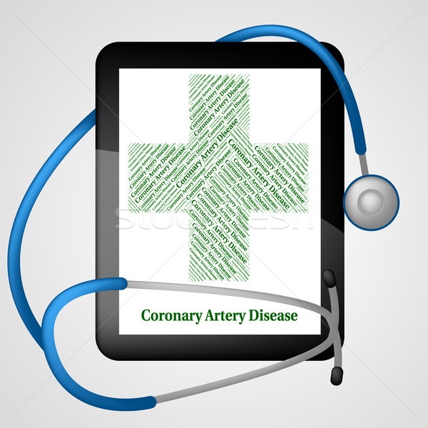 Coronary Artery Disease Represents Cardiac Arrest And Ailments Stock photo © stuartmiles