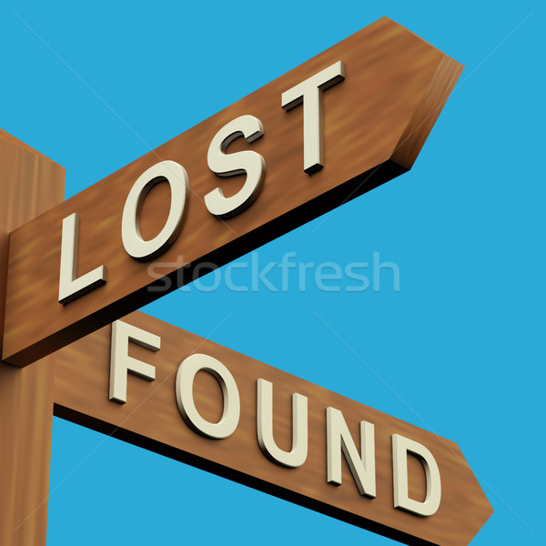 Lost Or Found Directions On A Signpost Stock photo © stuartmiles