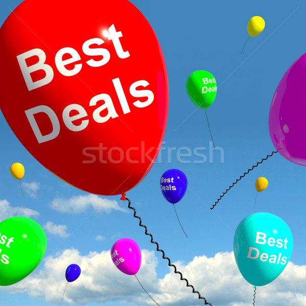 Best Deals Balloons Representing Bargains Or Discounts Stock photo © stuartmiles